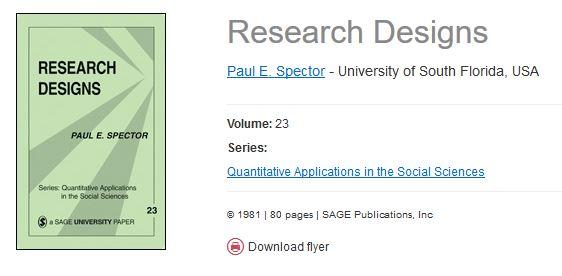research designs